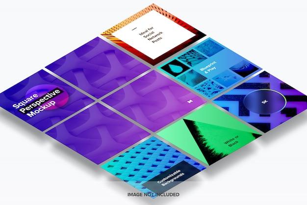 Makieta perspektywy kwadratowej