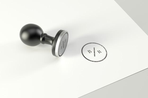 Makieta pieczęć logo