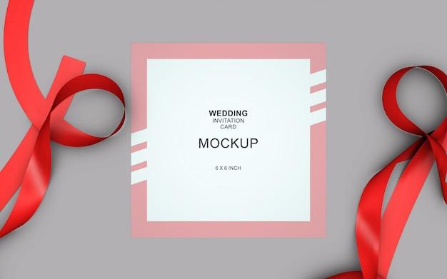 Makieta piękna karta zaproszenie ślub