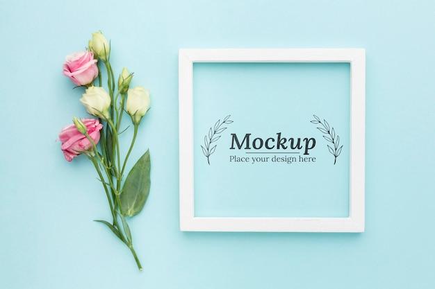 Makieta piękny kwiatowy koncepcja