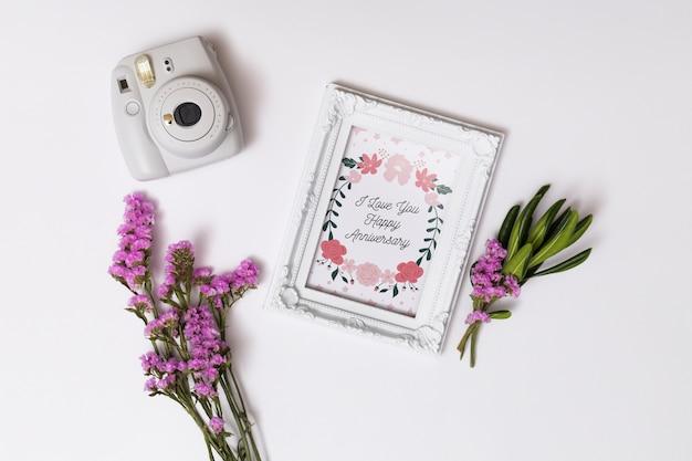 Makieta piękny ślub karty