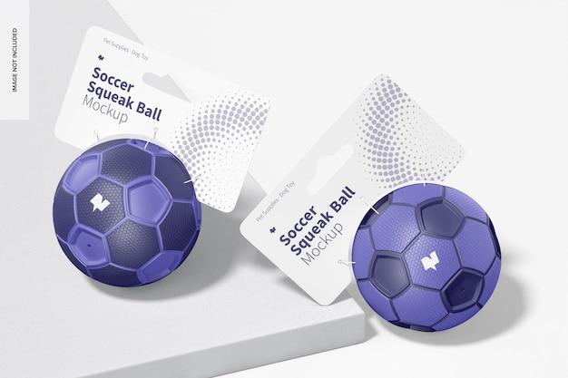 Makieta piłkarskich piłek piszczących