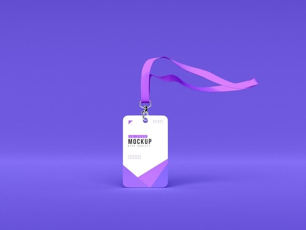Makieta pionowego uchwytu na karty identyfikacyjne