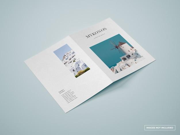 Makieta pionowej broszury bifold