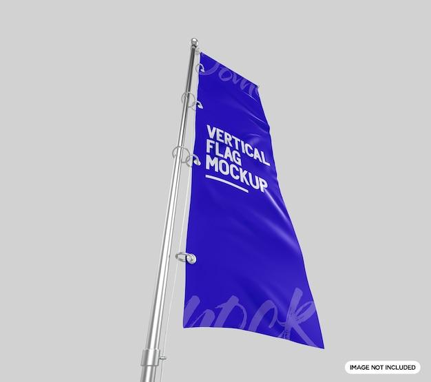 Makieta pionowej flagi