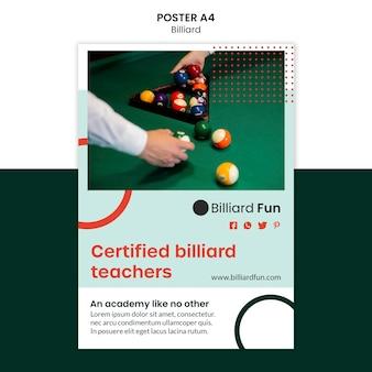 Makieta plakat koncepcja bilardu