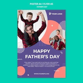 Makieta plakat koncepcja dzień szczęśliwy ojciec