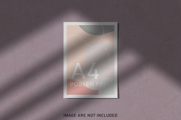 Makieta plakatów z nakładką cienia