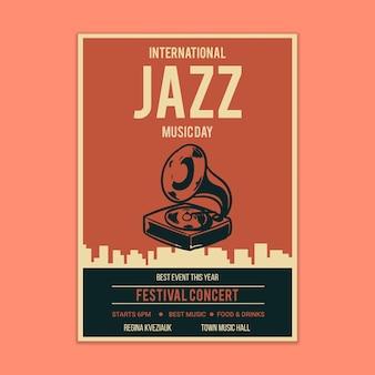 Makieta plakatowa z muzyką jazzową