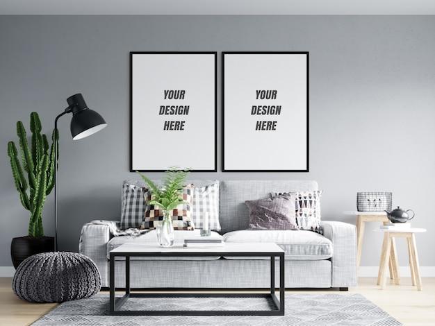 Makieta plakatu i ramki do salonu