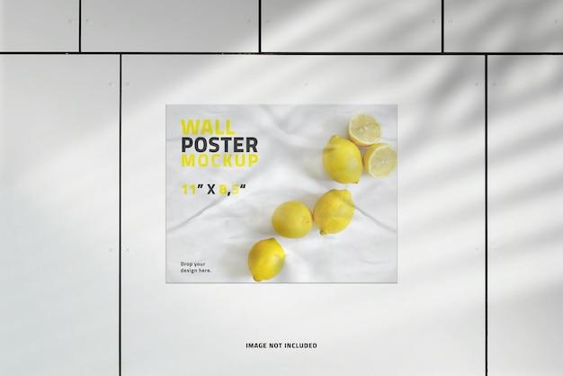 Makieta plakatu krajobrazowego z nakładką cienia