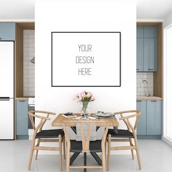 Makieta plakatu, kuchnia z poziomą ramą