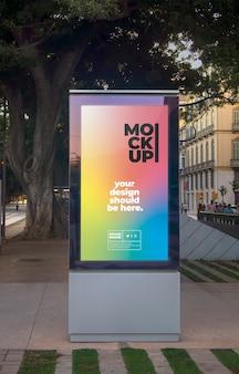 Makieta plakatu miejskiej ulicy