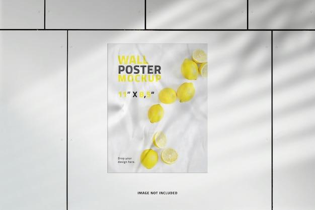 Makieta plakatu portretowego z nakładką cienia