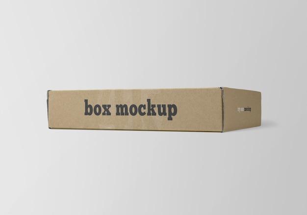 Makieta płaski papierowe pudełko na białym tle