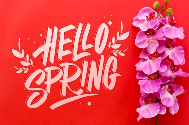 Makieta płaski świeckich wiosna z lato