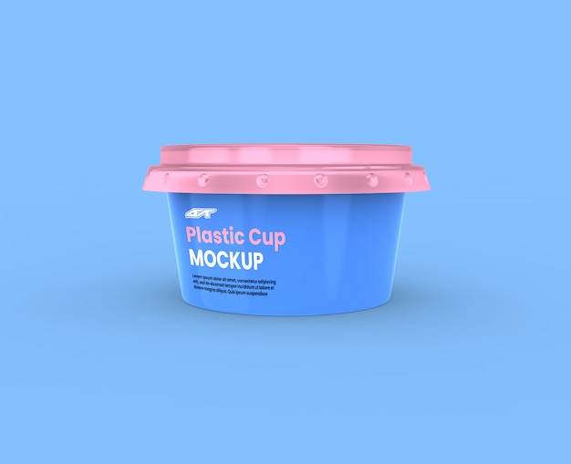 Makieta plastikowego kubka