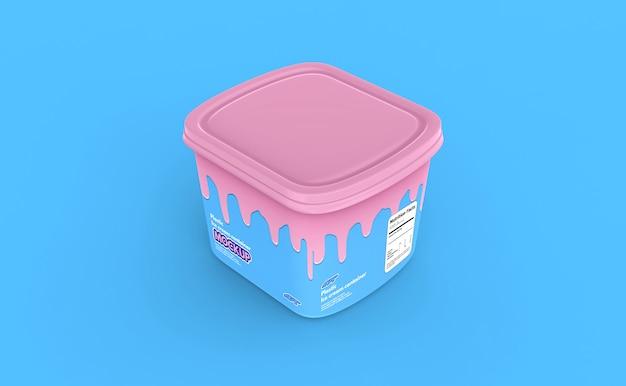 Makieta plastikowego pojemnika na lody