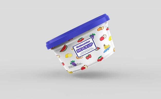 Makieta plastikowego pojemnika na żywność