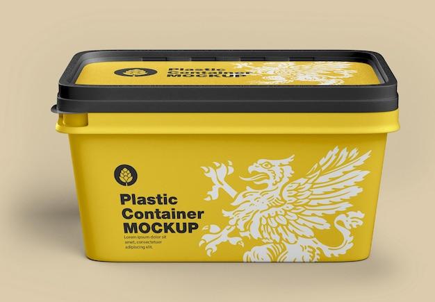 Makieta plastikowego pojemnika