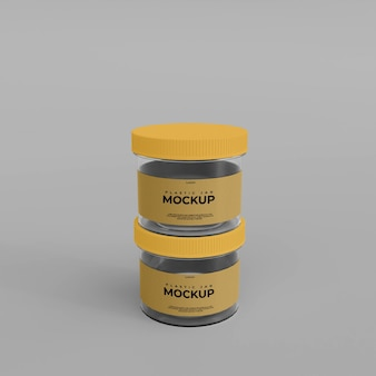 Makieta plastikowego słoika 3d