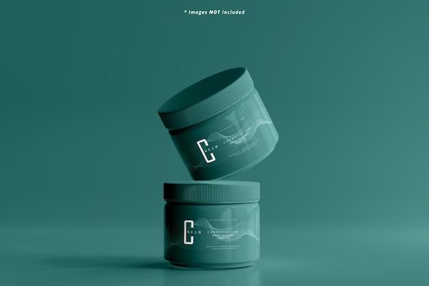 Makieta plastikowego słoika kosmetycznego