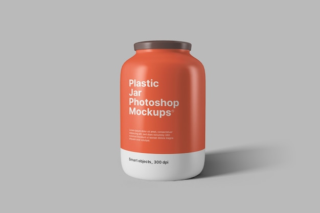 Makieta plastikowego słoika