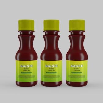 Makieta plastikowej butelki sosu