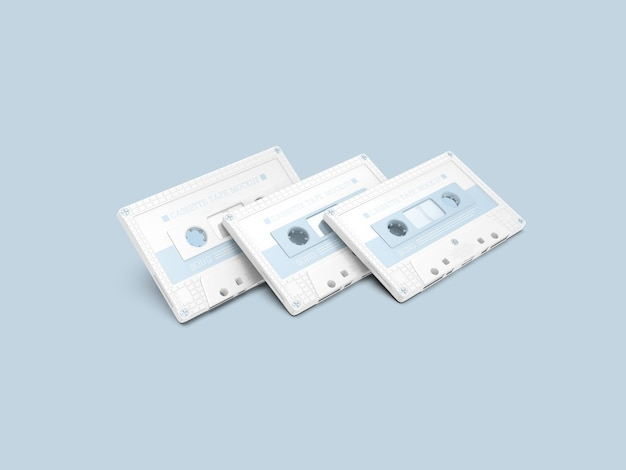Makieta plastikowej taśmy kasetowej
