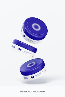 Makieta plastikowych słoików kosmetycznych 100 mm spada