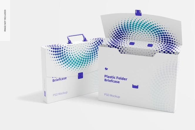 Makieta plastikowych teczek na dokumenty