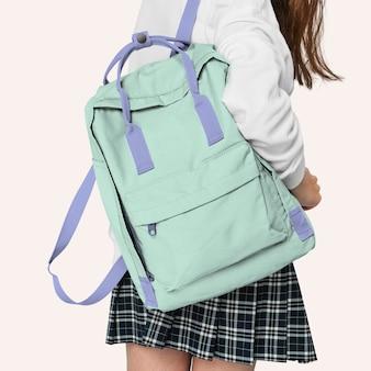 Makieta plecaka studenckiego na powrót do szkoły