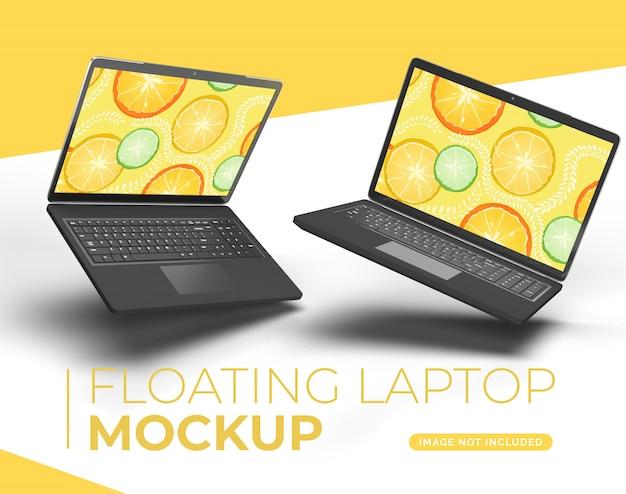 Makieta pływającego laptopa