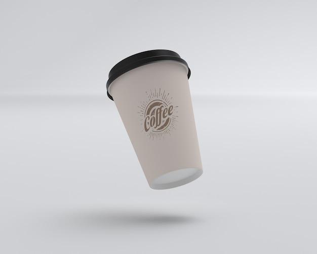 Makieta pływającej filiżanki kawy