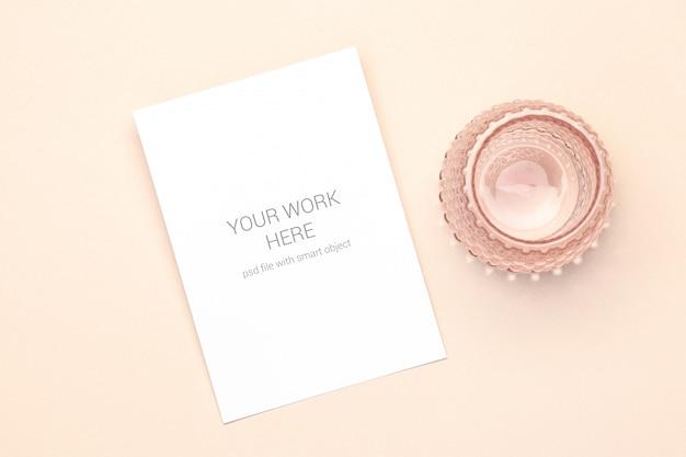 Makieta pocztówka ze szkłem