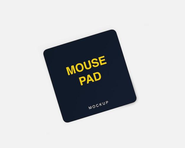 Makieta podkładki pod mysz na białym tle