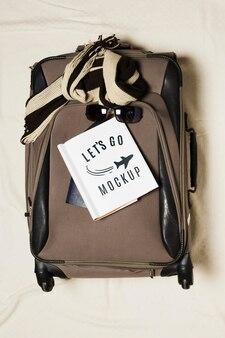 Makieta podróży bagażu z widokiem z góry