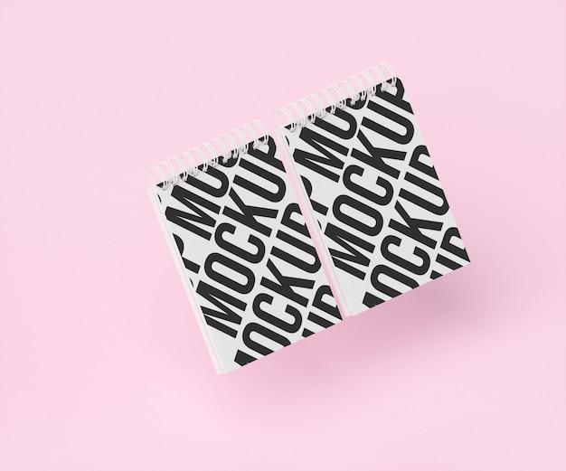 Makieta podwójnego notebooka