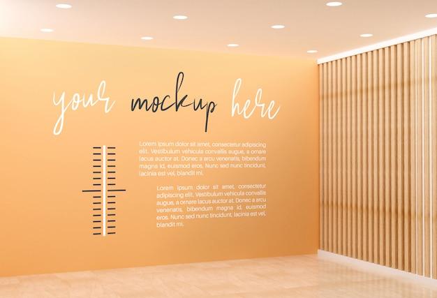 Makieta pokoju na ścianie
