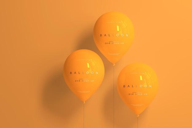 Makieta pomarańczowy balon