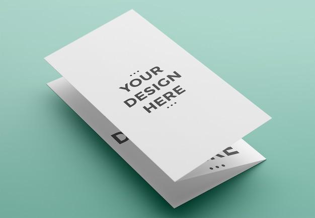 Makieta potrójnej broszury