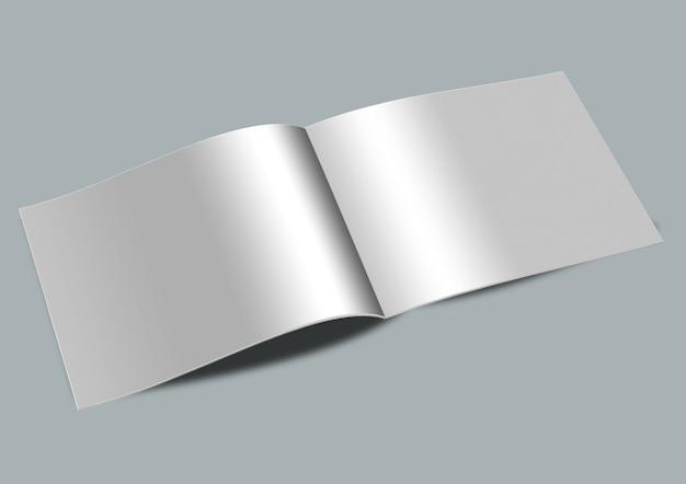 Makieta pozioma otwarta strona w formacie a4
