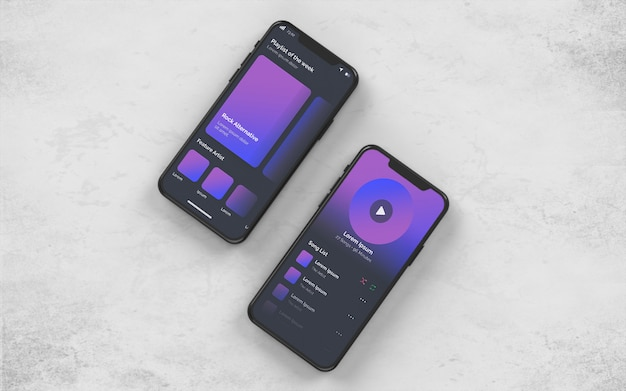 Makieta prezentacji smartfona prezentacji psd