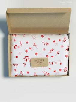 Makieta prezentu na ręcznik