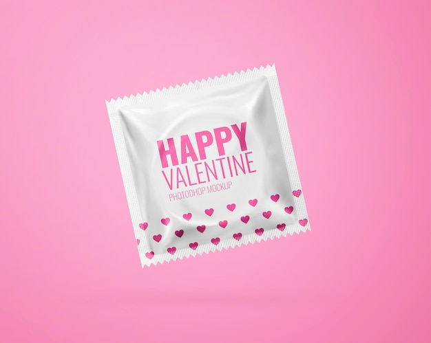 Makieta prezerwatywy realistyczna na białym tle