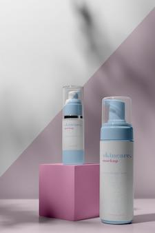 Makieta produktów do pielęgnacji skóry