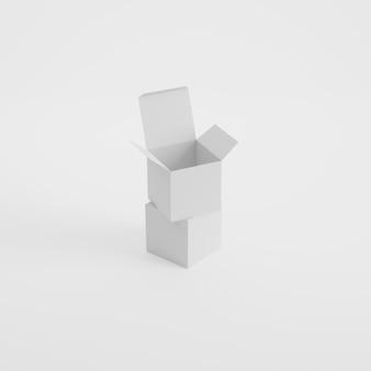 Makieta produktu do pakowania pudełkowego w renderowaniu 3d