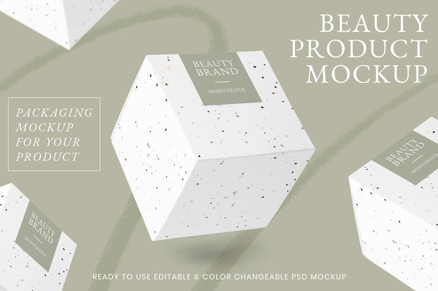 Makieta produktu kosmetycznego psd z czarną kredką