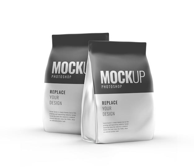 Makieta produktu w torebce kawy