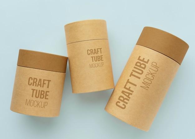 Makieta projektu cylindra z papieru rzemieślniczego
